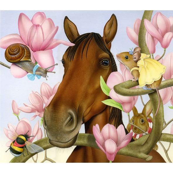 Лошадь открытки, открытки именами