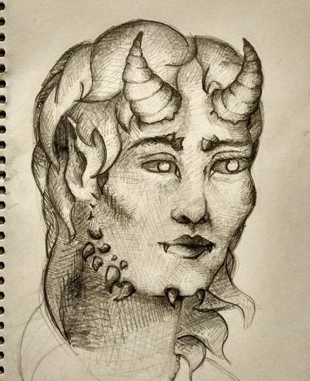 portrait demon succubus painting art artist