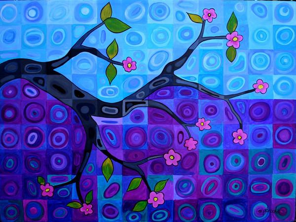 branch in blue