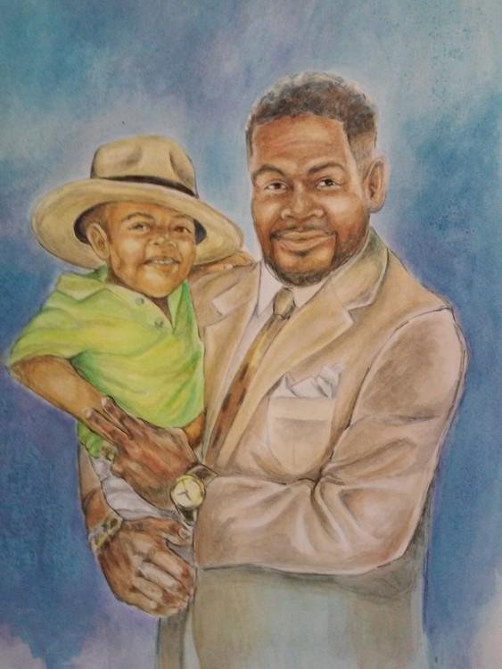 Commission Portrait Watercolor Painting