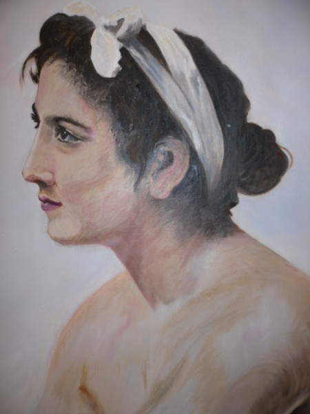 Woman in oil, finished