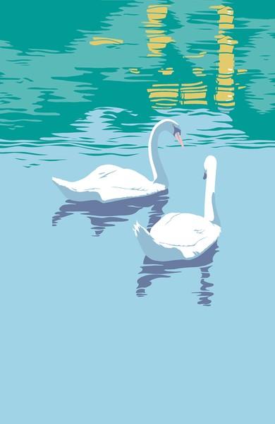 Swans Custom Phone Case Art
