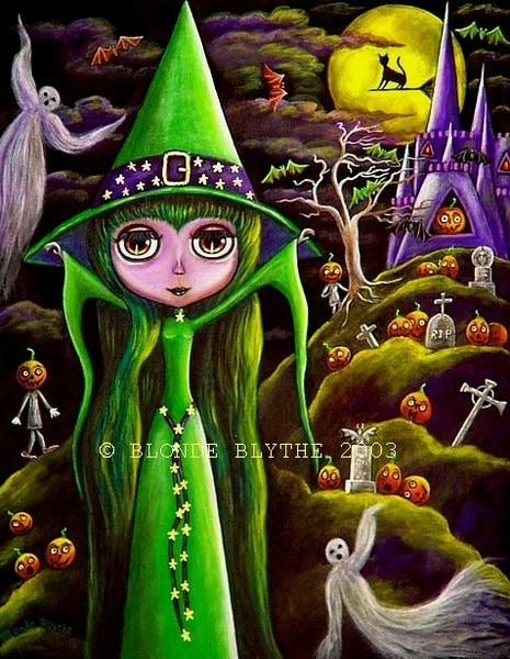 Halloween Blythe Witch On Pumpkin Mountain