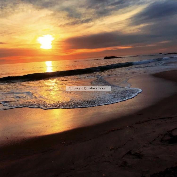 sunset at laguna beach original photo