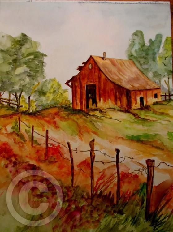 Old Barn on Hill