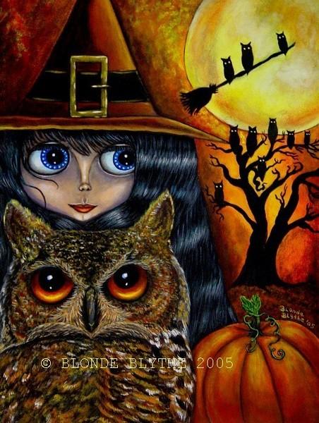 Halloween Blythe Owl Witch