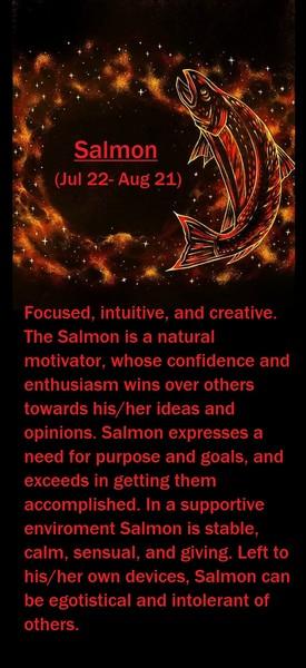 Native American Zodiac Sign, (Salmon)