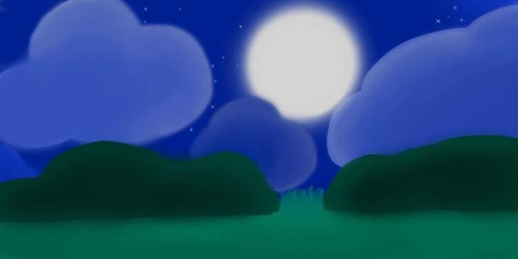 Minimalist Night Time Landscape