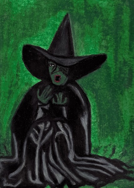 The Wizard Of Oz Wicked Witch Melting By Jo Ann Hayden Artwantedcom