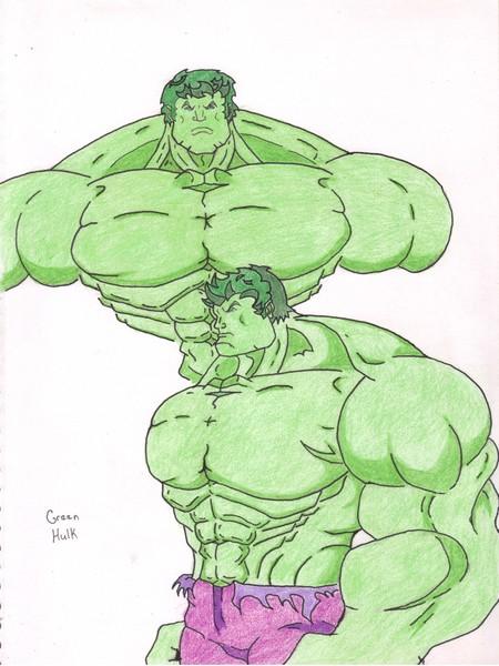 Green Hulk Sketch