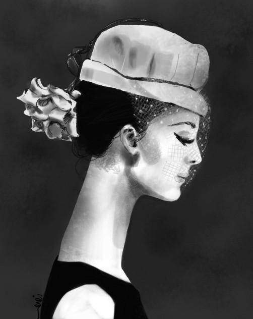 Audrey in black & white