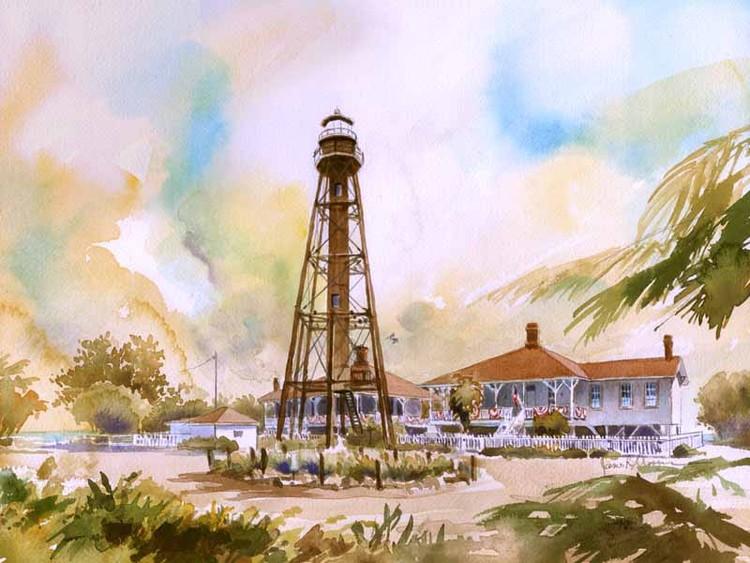 Sanibel Island . Point Ybel Light