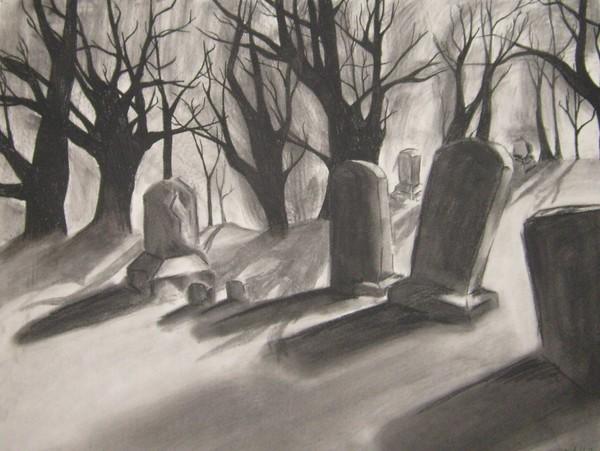 Graveyard Landscape By Meredith Bigatel Artwanted Com