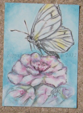Yellow Butterfly ACEO
