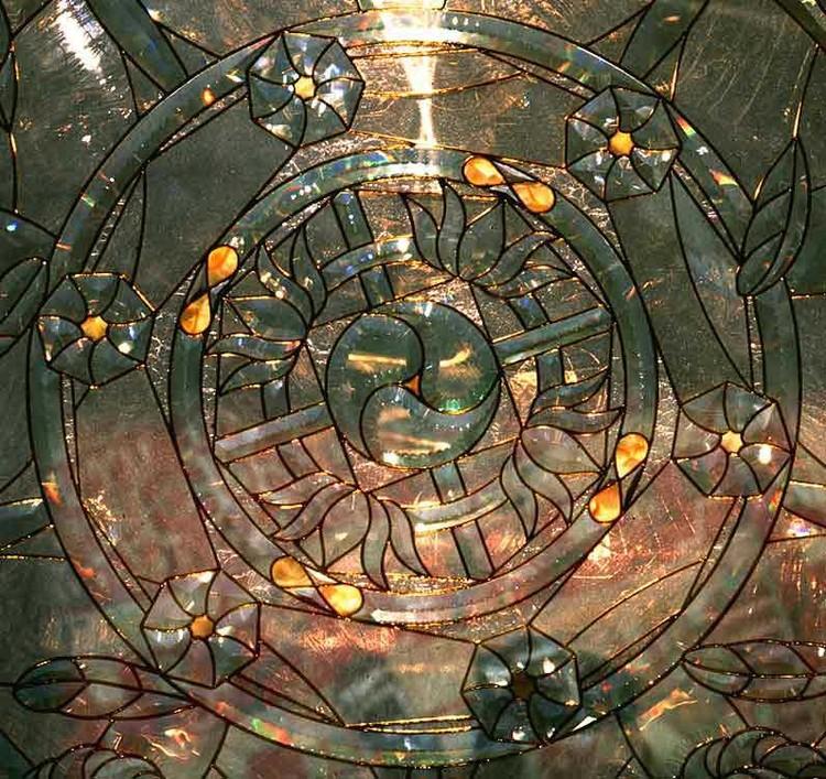 Central Circle Infinity Symbol Stones Adorn Hope