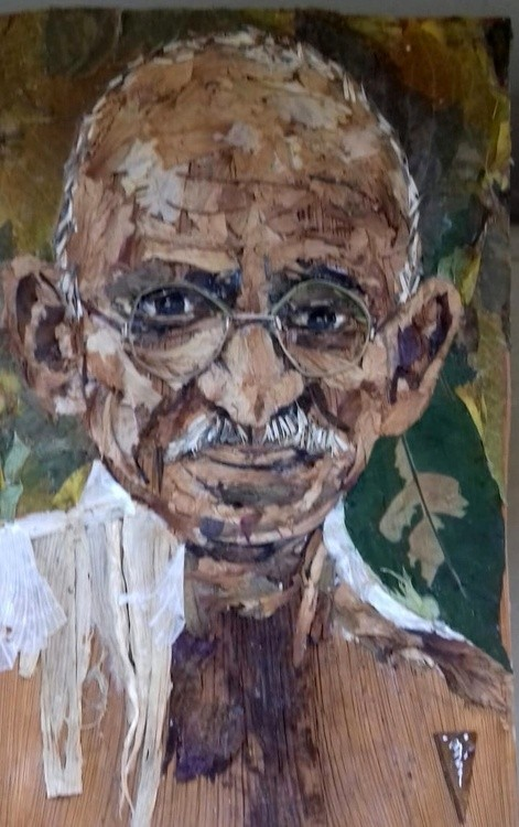 Mahatma Gandhi Jaivik-portrait