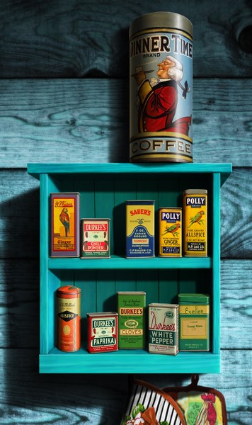 vintage spice rack and tins custom Phone Case Art