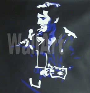 075 Elvis Presley 68 come back Pop Art Painting