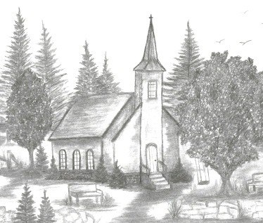 Country Church By Debbie Collier
