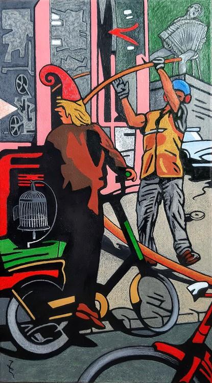 MADRID 2019 120x67cm OilWax on Canvas