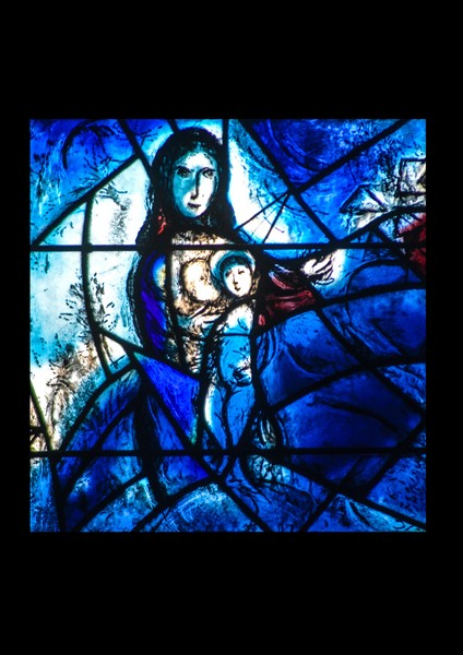 Detail from Chagall Window at All Saints Tudeley K