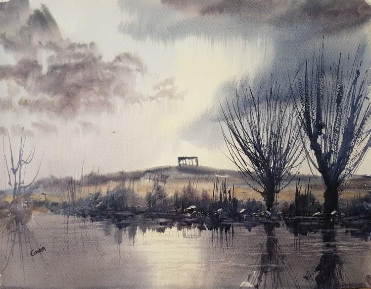 Penshaw Hill Watercolour Painting