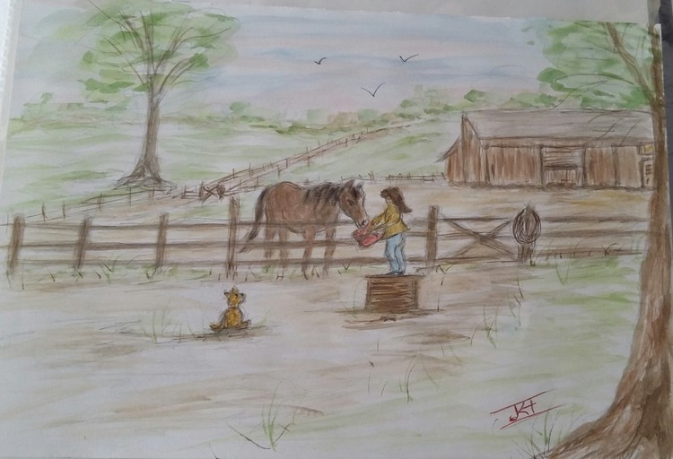 SIMPLY WATERCOLOR FOR MY AUNT AGGIES FARM BOOK