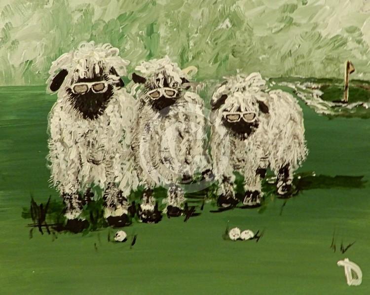 Golfing Sheep