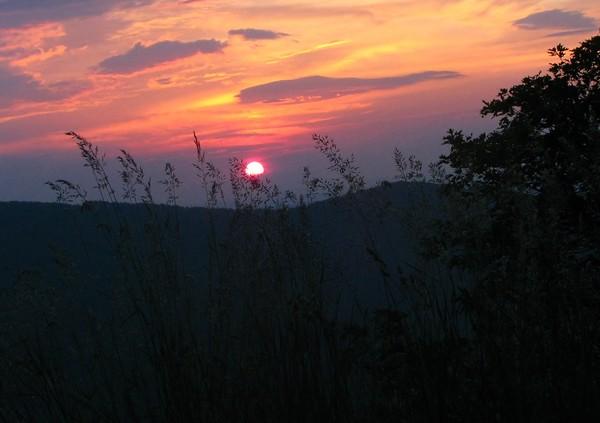 day break on the Blue Ridge