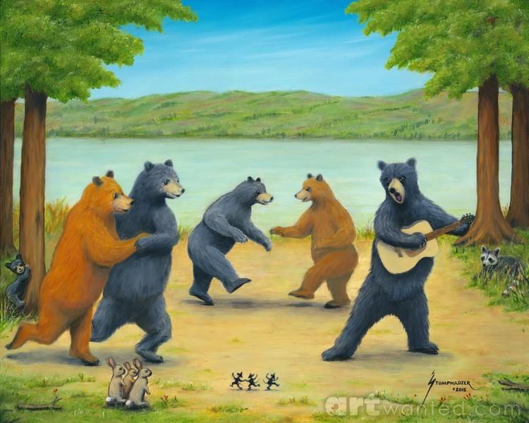 нас картинка танцующие медведи солдаты
