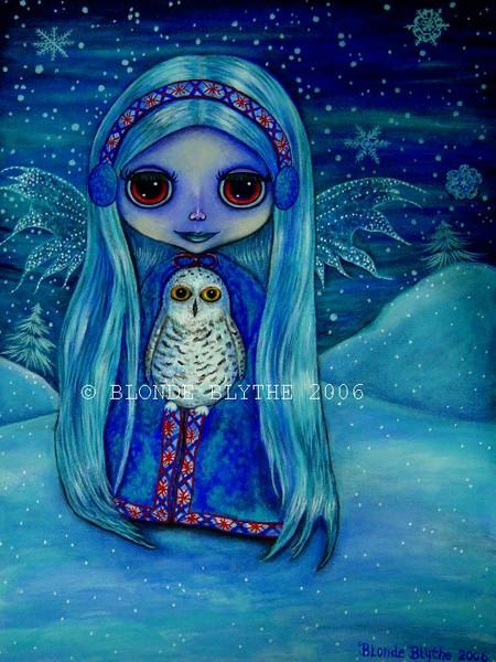 Snowy Owl Fairy Blythe
