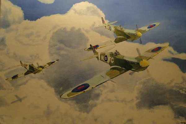 Spitfires in the Clouds