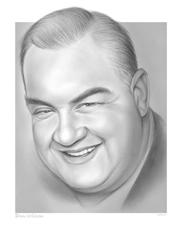 April 15 2021Sketch of the DayDon Wilson 1900 - 1982Wilson was an American announcer and actor in ra