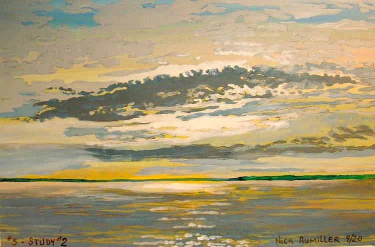 Barrison Point, Chesapeake Bay, Sun Rise #5 - Study # 2