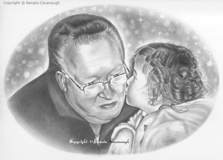 Kiss for grandpa