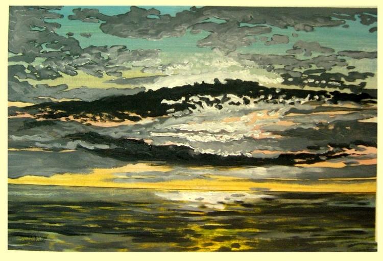 Barrison Point, Chesapeake Bay, Sun Rise #5 - Study # 3