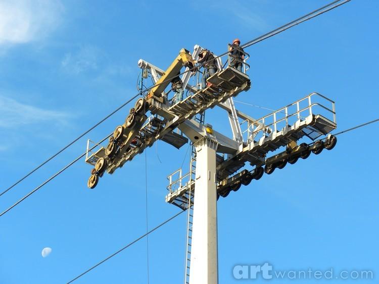 men at work: lift maintenance