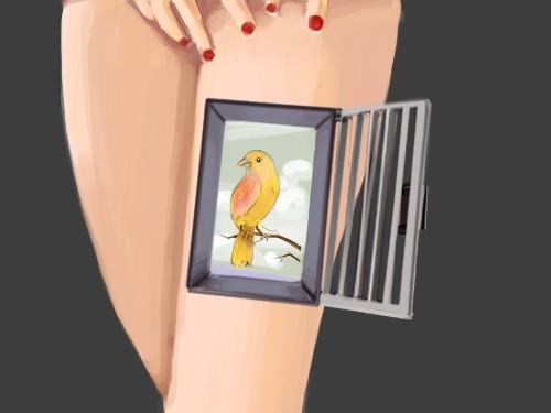 caged legs