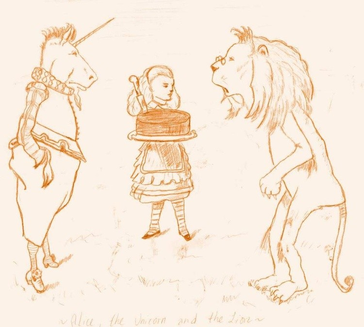 Alice, the Unicorn and the Lion