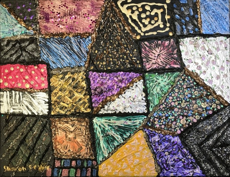 Abstract 11 Patchwork Quilt 4