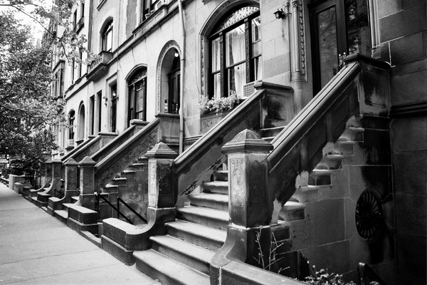 NYC Stoop Upper West Side by Keith Mooney | ArtWanted.com