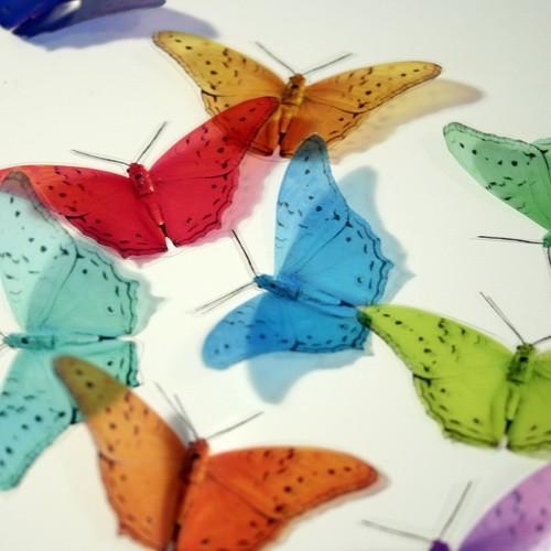 12 x B010 3D Transparent Butterflies