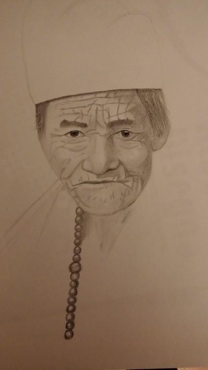 Ritratto vecchio nepalese