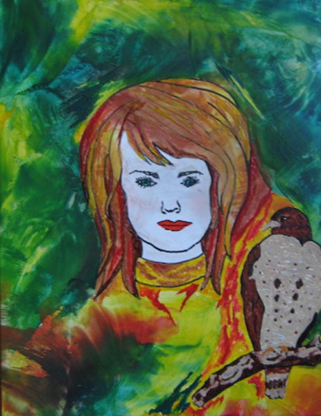 Sally, Intuitive Soul Painting
