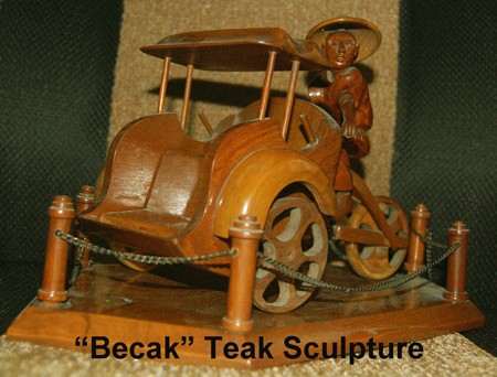 teak art sculpture